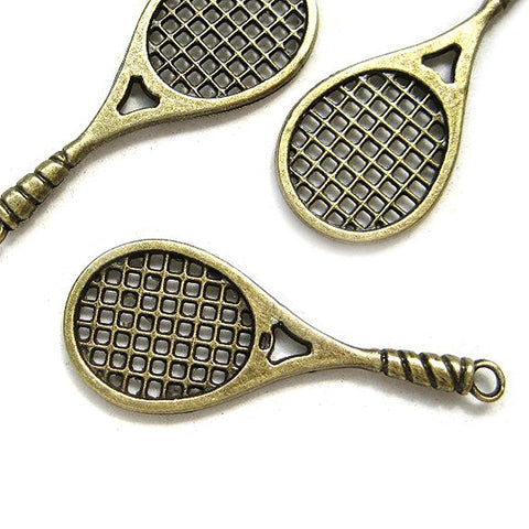 Charms (Bronze) - CH464 Tennis racket