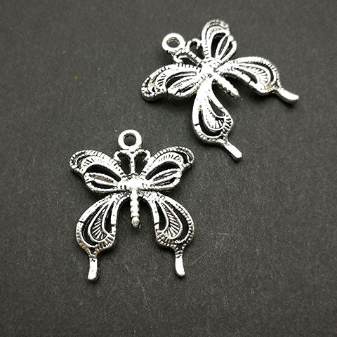 Charms (Antique Silver) -  CH470S Butterfly