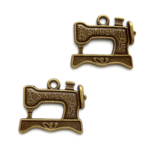 Charms (Bronze) - CH472 Sewing machine
