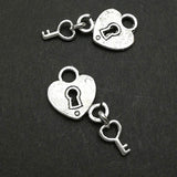 Charms (Antique Silver) -  CH473S Lock key