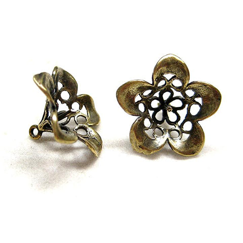Charms (Bronze) - CH479 Flower