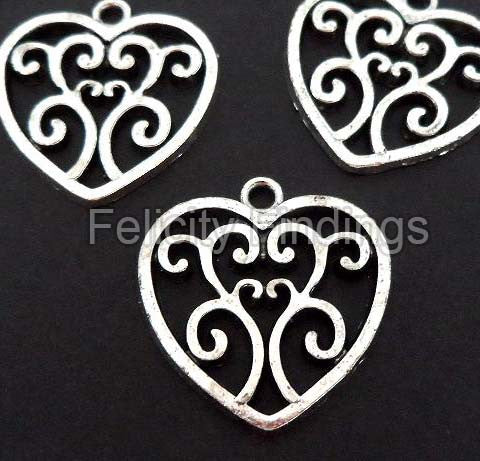 Charms (Antique Silver) - CH512S Heart