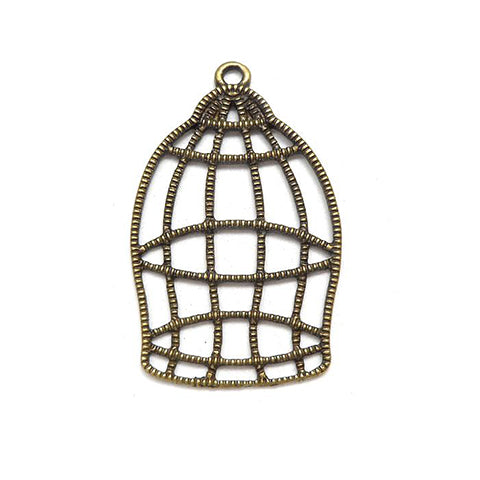 Charms (Bronze) - CH515 Bird cage