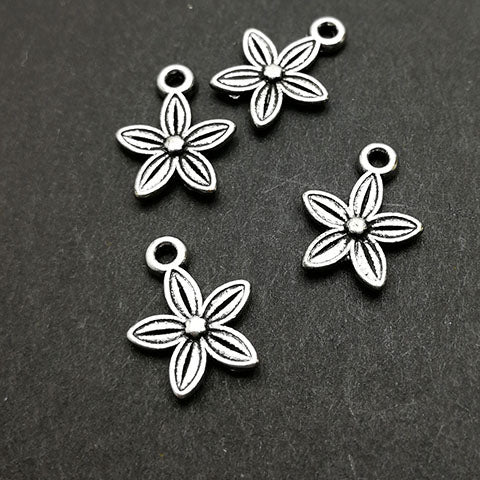 Charms (Antique Silver) -  CH530S Flower