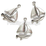 Charms (Antique Silver) - CH532S Sailing boat