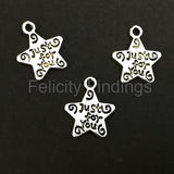 Charms (Antique Silver) -  CH534S Star Tag