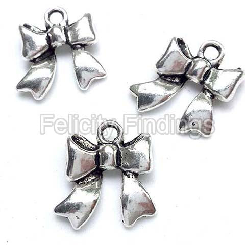 Charms (Antique Silver) - CH536S Bowknot