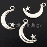 Charms (Antique Silver) - CH559S Moon star