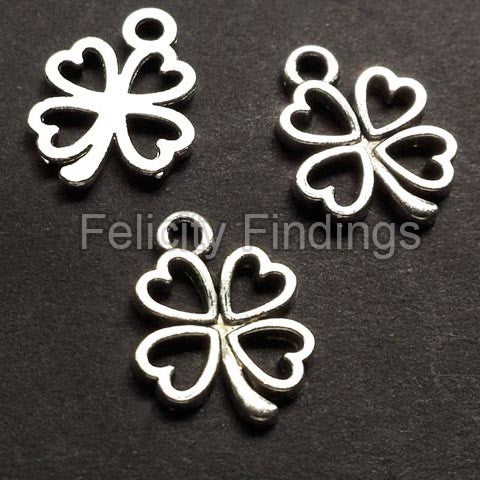 Charms (Antique Silver) - CH561S Clover