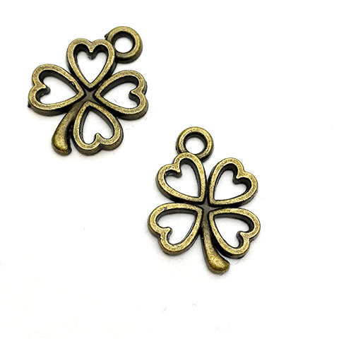 Charms (Bronze) - 6pcs Clover CH561  (last pack)