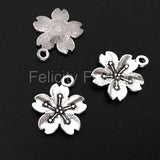 Charms (Antique Silver) -  CH568S Cherry Blossom Flower