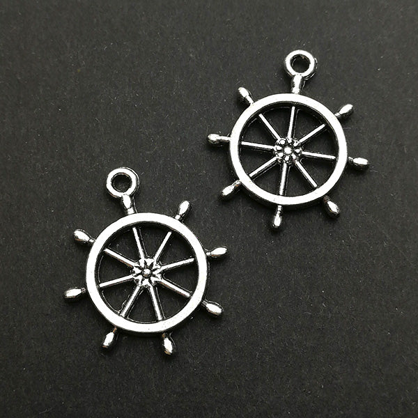 Charms (Antique Silver) -  CH578S Ship wheel