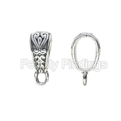 Charm hangers (Antique silver) - CHH04S