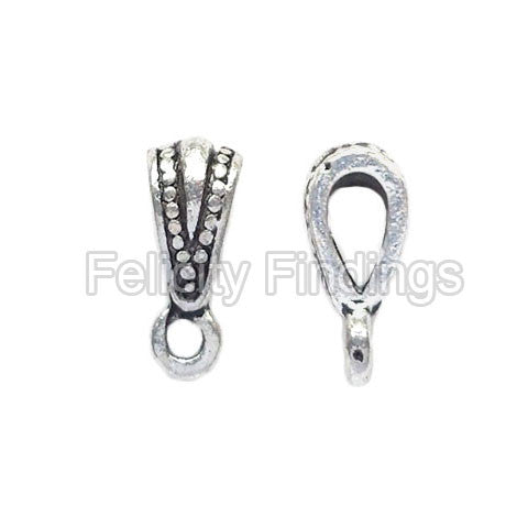 Charm hangers (Antique silver) - CHH06S