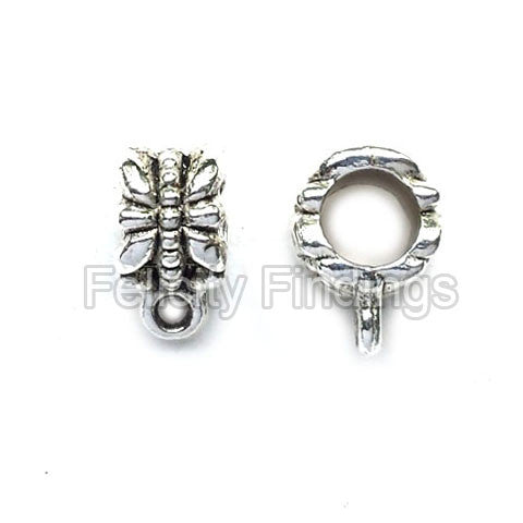 Charm hangers (Antique silver) - CHH07S