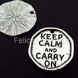 Charms (Antique Silver) - CHS Keep calm