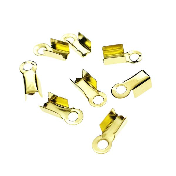 Fold over cord end (Gold-plated) - CT02G