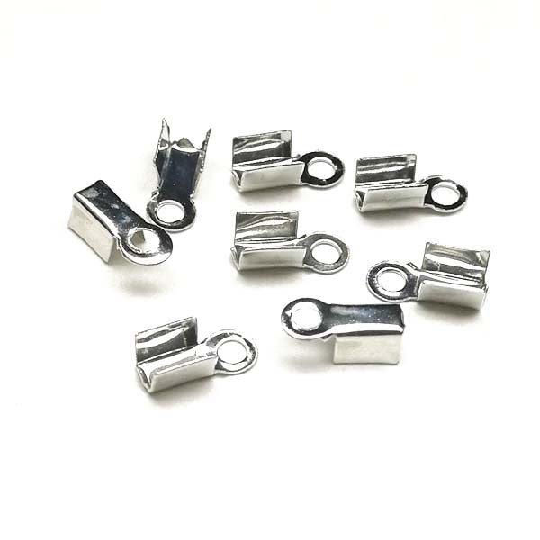 Fold over cord end (Platina-plated) - CT02-P