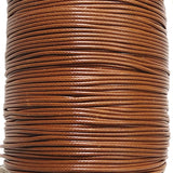 Korean Waxed Cotton Cord - 1.5mm Brown