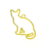Open back bezel - Cat Sitting (Gold plated)