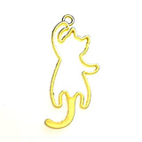 Open back bezel - Cat Hanging (Gold plated)