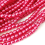Glass pearl - 4mm (Cerise)