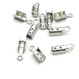 Fold over cord end (stainless Steel) - CT03SS