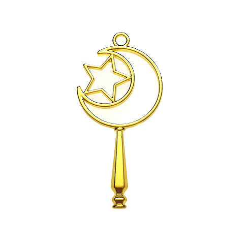 Open back bezel - Crescent Star wand (Gold plated)