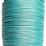 Korean Waxed Cotton Cord - 1.5mm Cyan