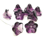 Glass bead bell flower - Deep purple