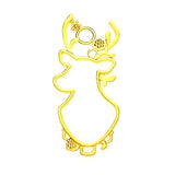 Open back bezel - Deer Large (Gold plated)