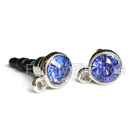 Dust Proof Plugs - Cap with rhinestone