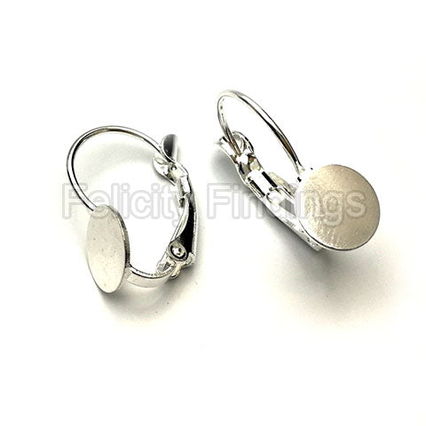 Earring findings (Silver plated) - EH503S