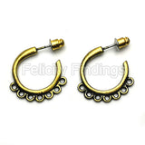Earring Findings (Bronze) - EH507