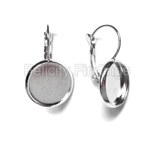 Earring findings (Platina plated) - EH515P