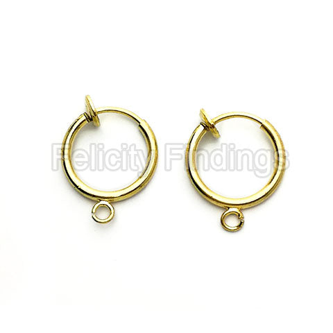 Earring findings (Gold plated) - EH521G