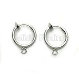 Earring findings (Platina plated) - EH521P