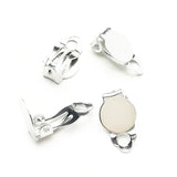 Earring findings Clip on (Platina-plated) - EH522P