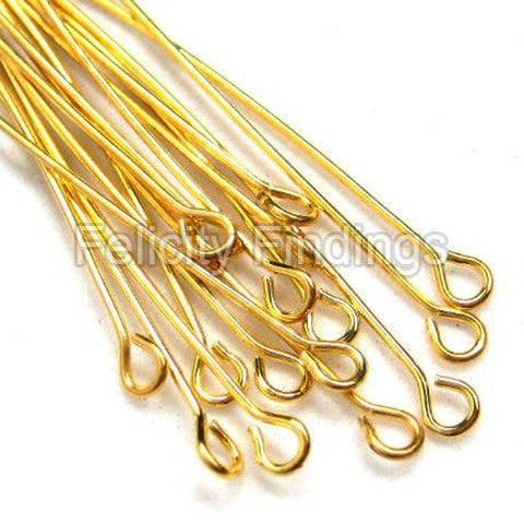 Eye pins (Gold plated) - 45mm