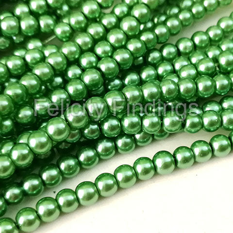 Glass pearl - 4mm