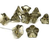 Glass bead bell flower - Grey