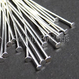 Head pins (Silver plated) - 45mm