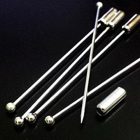 Hijab Scarf pins ball tip (Silver plated)