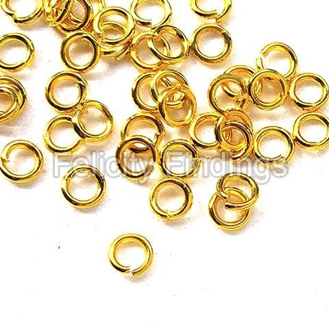 Jump rings (Gold plated) - 3.5mm