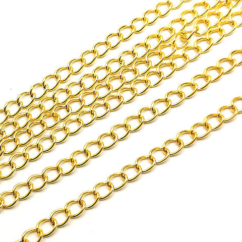 Chains (Gold plated) - Twisted 3.5mm LC009-G