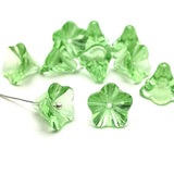 Glass bead bell flower - Light green