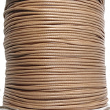 Korean Waxed Cotton Cord - 1.5mm Light Brown