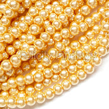 Glass pearl - 4mm (Light gold)
