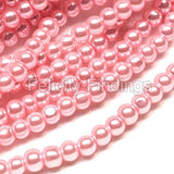 Glass pearl - 4mm (Light pink)