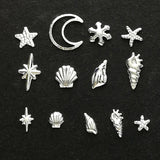 Metal stamping embellishments (Silver-plated)
